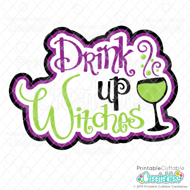 T119 Drink Up Witches SVG File preview2