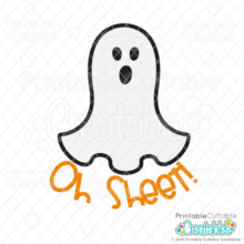Oh Sheet Ghost Free SVG File