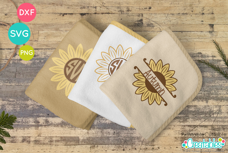 Sunflower Monogram Frames Free Svg Files For Cricut Silhouette