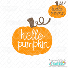 Hello Pumpkin FREE SVG FIle