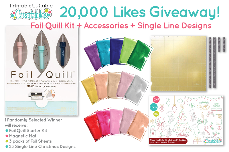 Printable Cuttable Creatables Foil Quill Giveaway