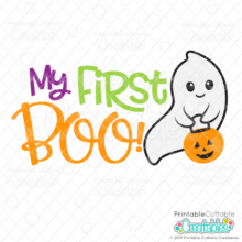 My First BOO SVG Cut File