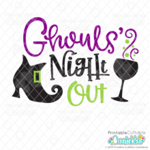 Ghouls' Night Out Halloween SVG File