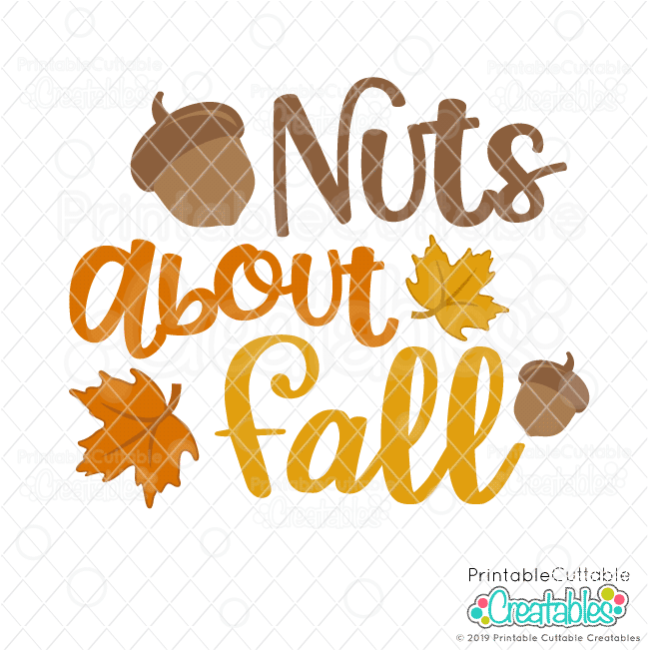 Nuts About Fall SVG File