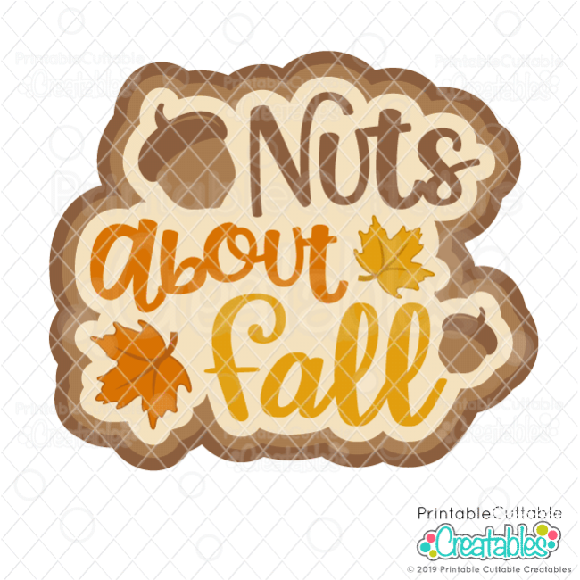 Nuts About Fall Scrapbooking SVG Cut File
