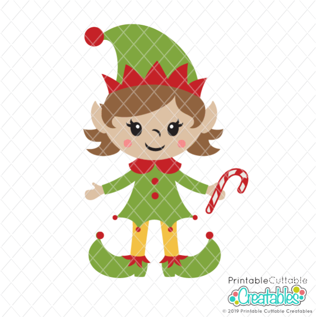 Cute Girl Elf SVG File