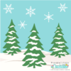 Winter Trees and Hillside Free SVG Files