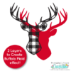 FREE Buffalo Plaid SVG Deer Head