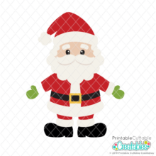 Cute Santa Claus SVG File