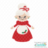 Cute Mrs Claus SVG File