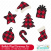 Free Buffalo Plaid Christmas SVG Set
