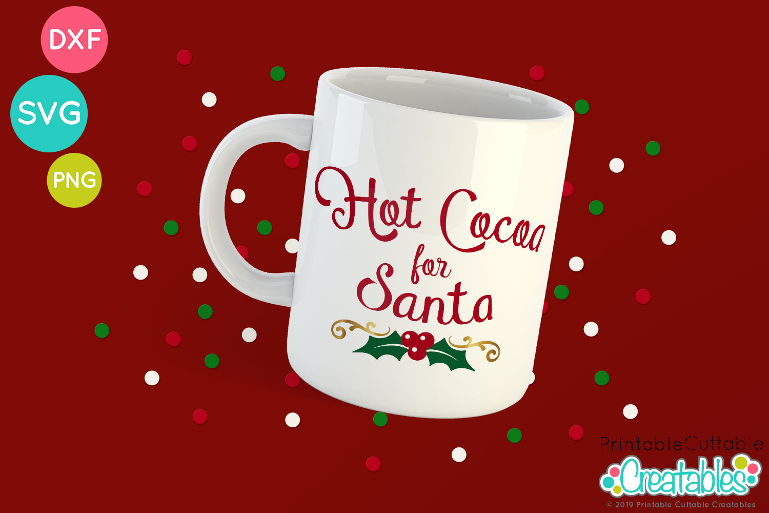 Cuts for Cricut Clipart PNG Decoration Drink Hot Cocoa SVG Silhouette Holiday Vector Xmas Cutting Christmas Cut File Instant Download