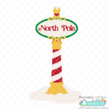 North Pole Sign SVG File