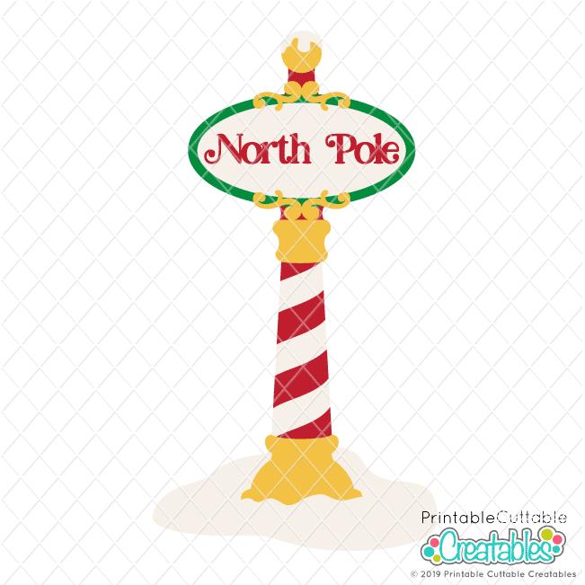 North Pole Sign SVG File