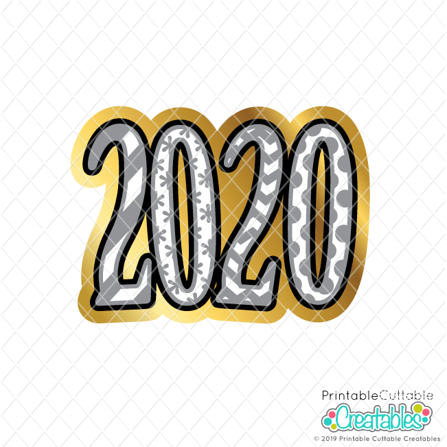 2020 FREE New Year SVG File