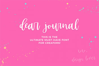 dear journal free font commercial use