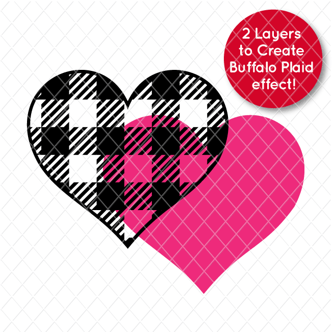 Free Buffalo Plaid Heart Free SVG