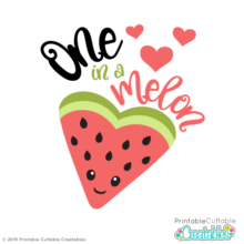 One in a Melon Free SVG Cut File
