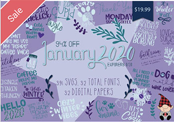 January 2020 SVG Font Bundle