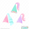 Princess Cone Hat SVG Files Set