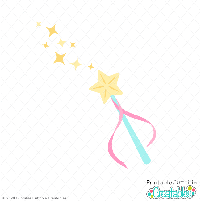 Magic Fairy Wand Free SVG Cut File
