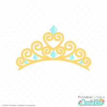 Princess Tiara Crown SVG File