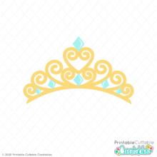Princess Tiara Crown SVG File
