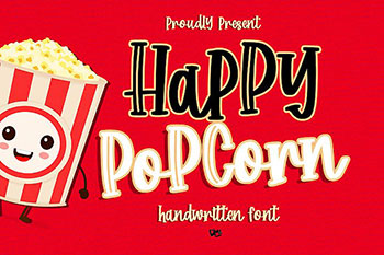Happy Popcorn Free Font Commercial Use