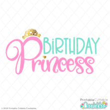 Birthday Princess Free SVG File