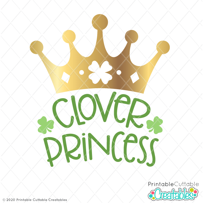 Clover Princess Free SVG Files