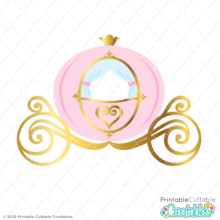 Princess Carriage SVG File