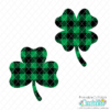 Buffalo Plaid Shamrock & Clover FREE SVG Files