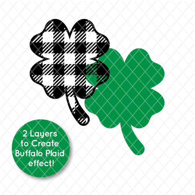Buffalo Plaid St. Patrick's Day FREE SVG Cut Files
