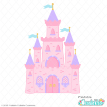 Princess Castle SVG File & Clipart