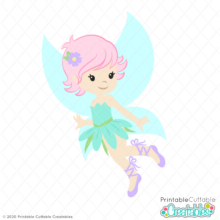 Cute Magical Fairy SVG Cut File
