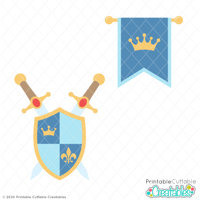 Royal Flag and Shield SVG Files