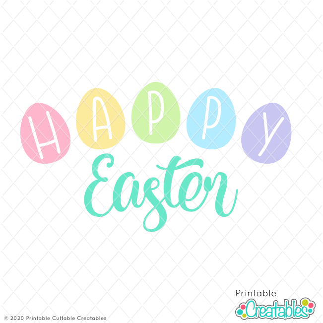 Happy Easter Title FREE SVG File