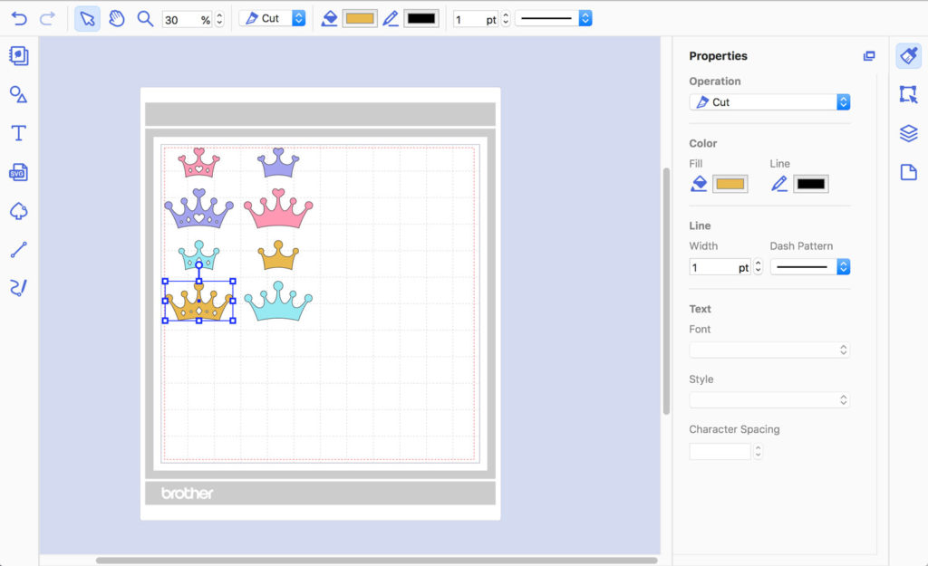 SVG design in CanvasWorkspace