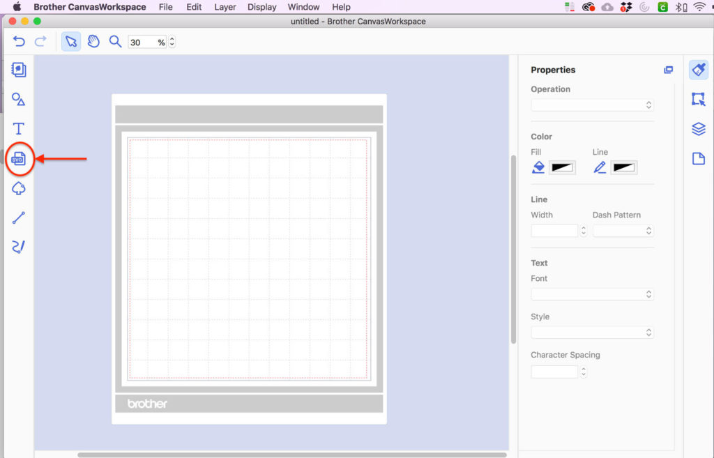 Import SVG to CanvasWorkspace Software