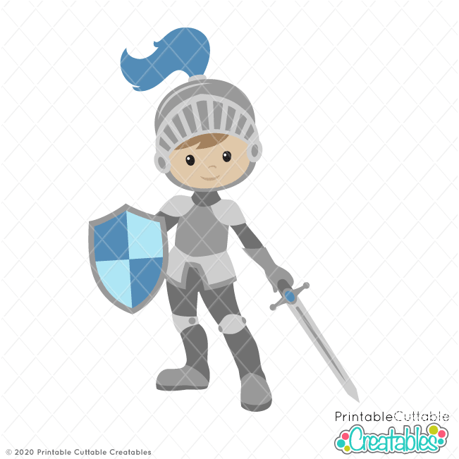 Cute Royal Knight SVG File