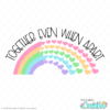 Together Rainbow Hearts FREE SVG File