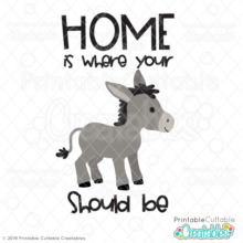 Home is Where Your A** Should Be SVG File