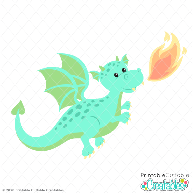 Cute Fairy Tale Dragon SVG File