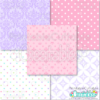 Princess Printable Seamless Patterns
