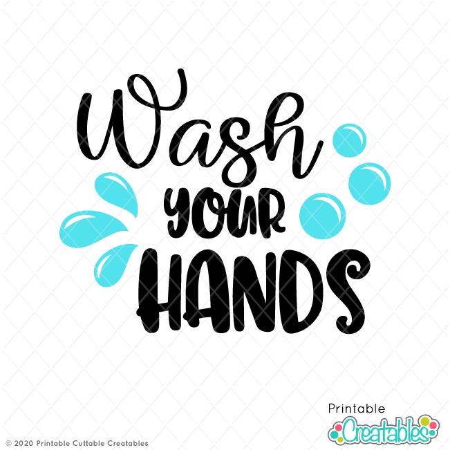 Wash Your Hands SVG File
