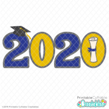 Graduation 2020 Free SVG File