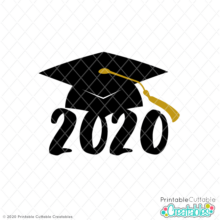 Graduation Cap 2020 Free SVG File