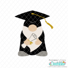 Graduation Gnome SVG File