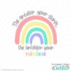 The Greater Your Storm the Brighter Your Rainbow Free SVG File