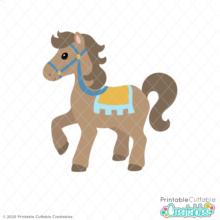 Cute Royal Horse SVG File